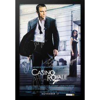 Luxewest James Bond Casino Royale Framed Autographed Movie