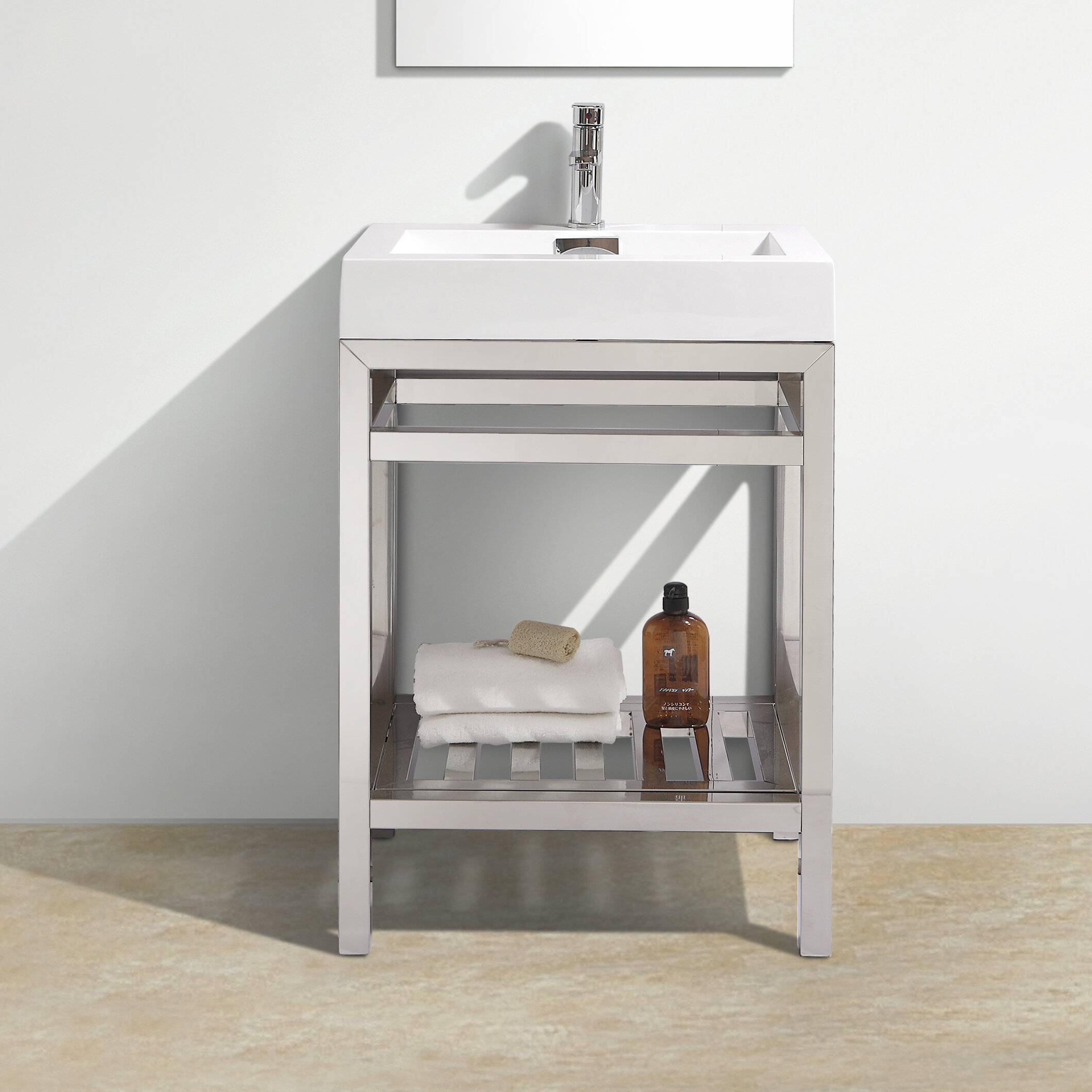 Beau Wade Logan Hammonton Console 24 Single Bathroom Vanity Set U0026 Reviews |  Wayfair