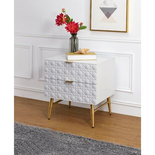 Brayson Wooden 2 Drawer Nightstand by Everly Quinn