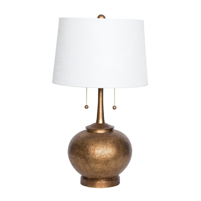 Hammered resin 29 table lamp