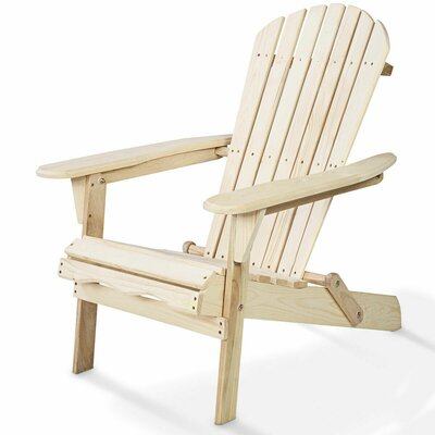 Hagan Garden Outdoor Wood Folding/Lightweight Adirondack Chair by August Grove
