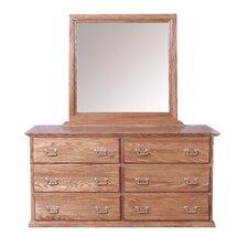 6 Drawer Dresser with Mirror by Forest Designs