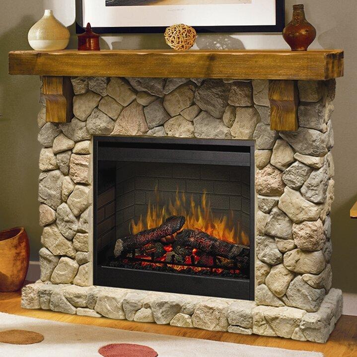 Fireplace Design fireplace electric : Dimplex Fieldstone Electric Fireplace & Reviews | Wayfair