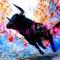 """Acrylglasbild """"Viva el Toro"""" von Leon Bosboom, Grafikdruck"""