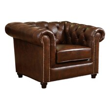 Curley Chesterfield Chair by Astoria Grand