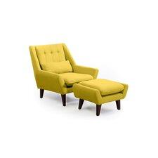 Stuart Lounge Chair and Ottoman by Kardiel