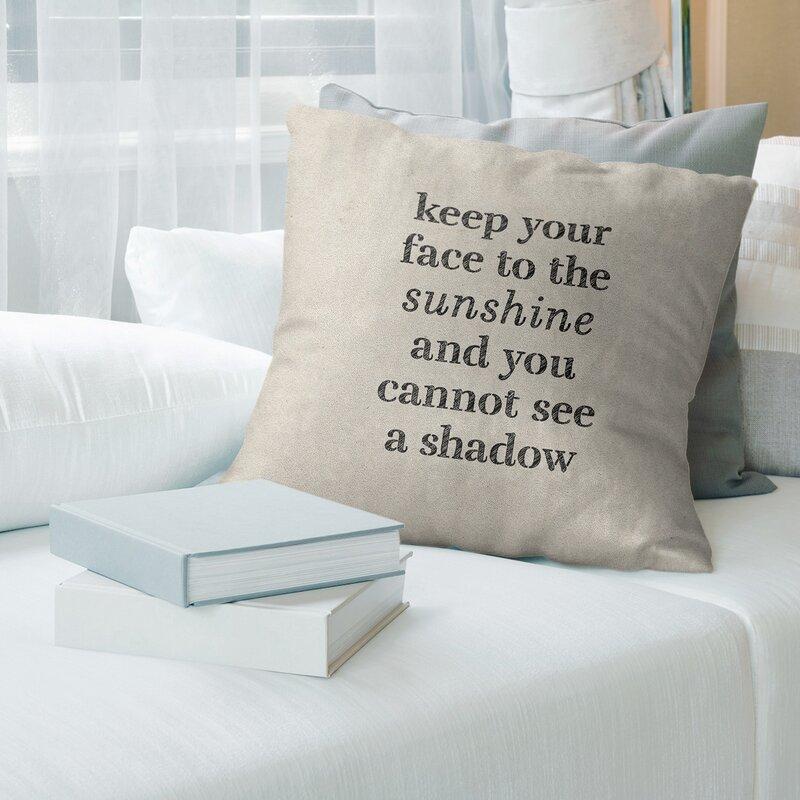 East Urban Home Handwritten Optimism Inspirational Quote Pillow Wayfair