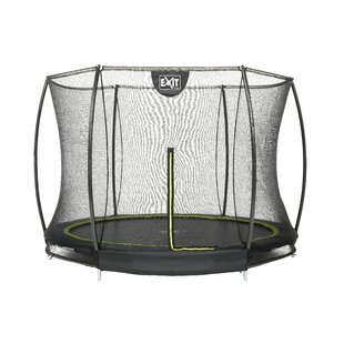 Silhouette Ground 8' Round Trampoline With Safety Enclosure By Exit Toys