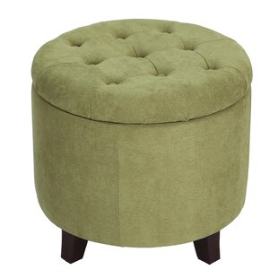 Vella Round Button Lift Top Tufted Storage Ottoman by Winston Porter