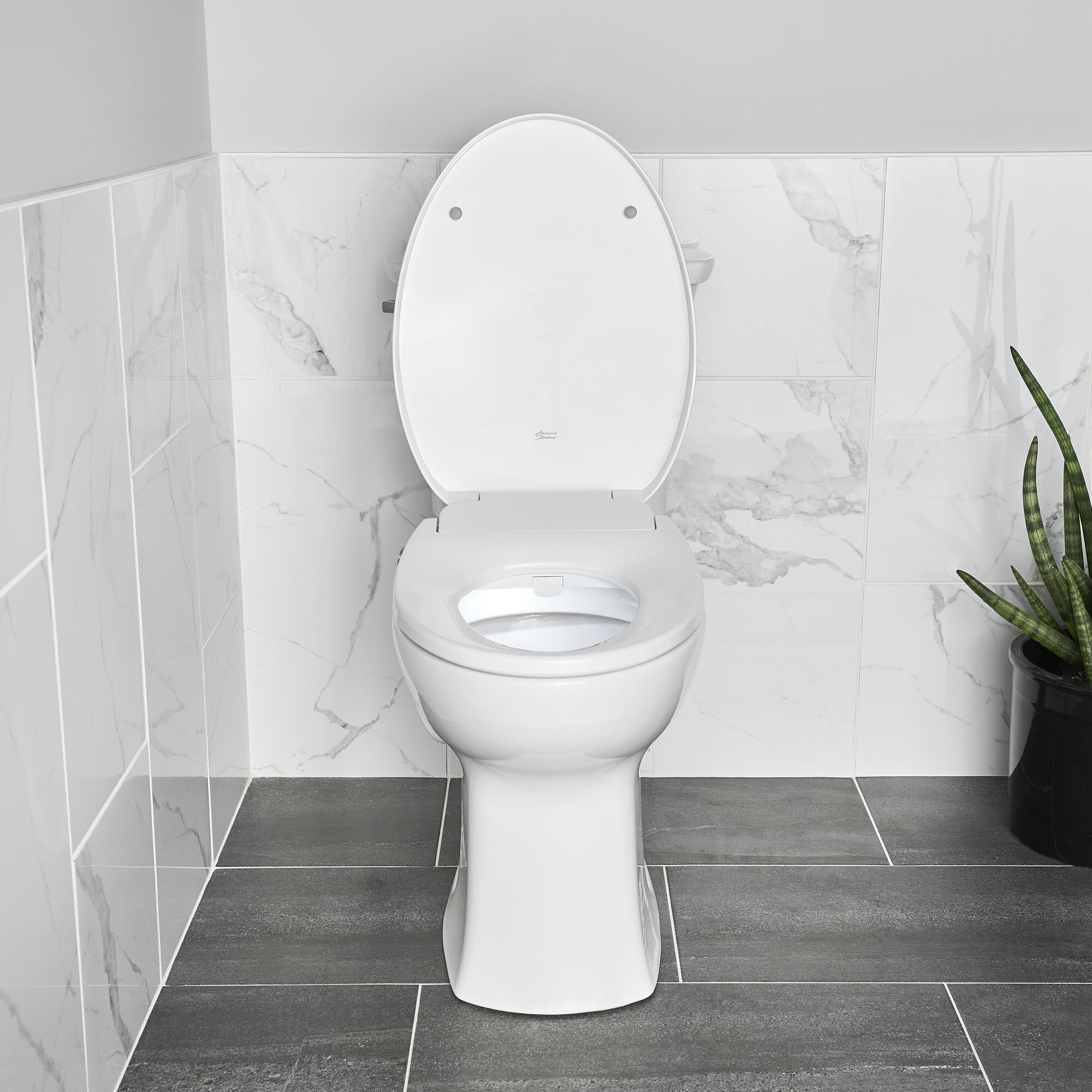 American Standard Bathroom White Elongated Cover Non Electric Bidet Toilet Seat