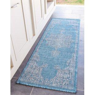 Crader Blue/Gray Indoor/Outdoor Area Rug