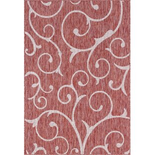 Coutu Red/Beige Indoor/Outdoor Area Rug