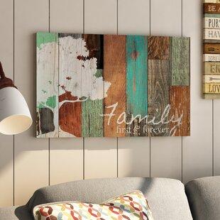 U0027Familyu0027 Textual Art On Wood