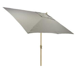 Highland Dunes Hulme Solid 6.5' x 10' Rectangular Market Umbrella