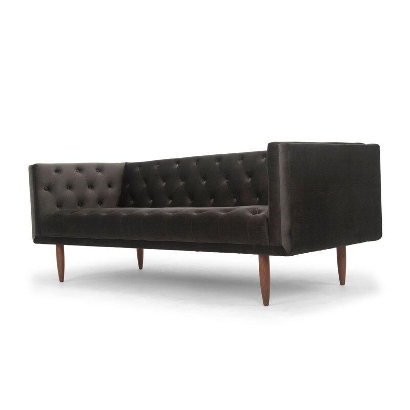 Mcclellan Velvet Chesterfield Sofa