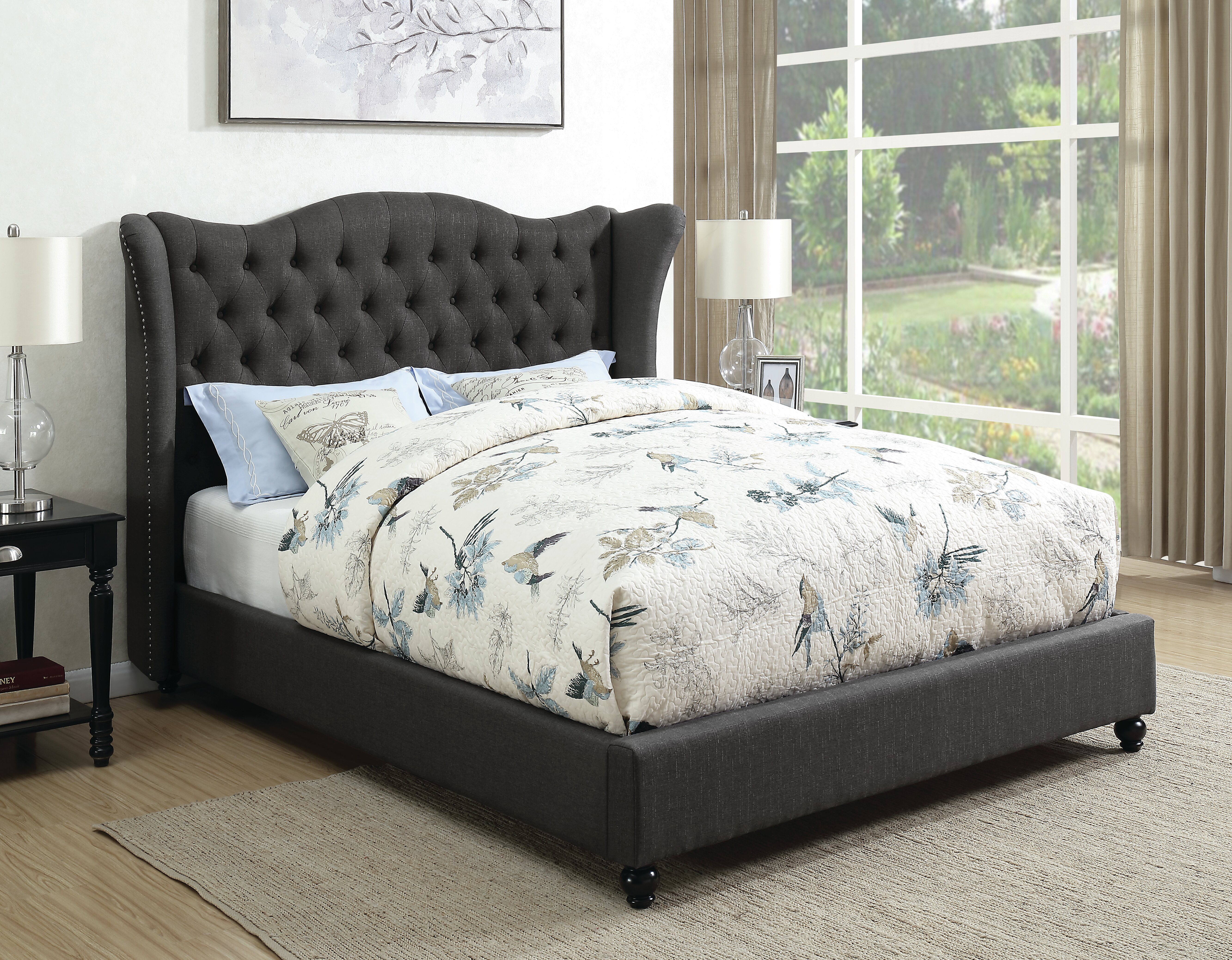 Astoria Grand Junek Upholstered Panel Bed Wayfair