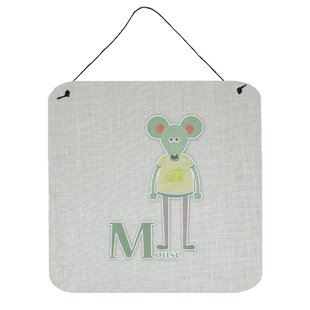 Alphabet M For Mouse Wall Décor
