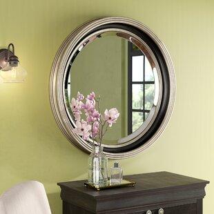 48 round mirror extra large round silver leaf accent mirror 48 inch wayfair