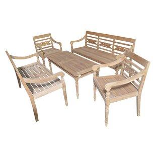 Alwari Teak 5 Piece Sofa Set