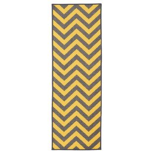 Anne Chevron Yellow/Gray Area Rug