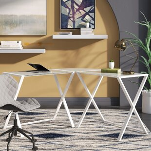 Ferro Glass L-Shape Desk