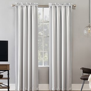Oslo Max Blackout Home Theater Grade Solid Blackout Thermal Rod Pocket Single Curtain Panel by Sun Zero