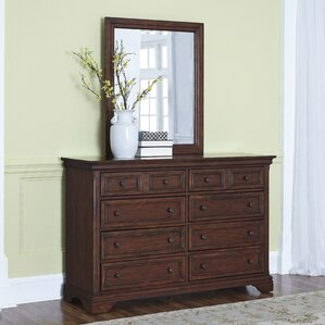 Curran 8 Drawer Dresser with Mirror by Three Posts