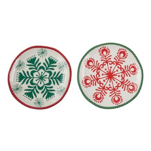 Snowflake Bread and Butter Plate Set  sc 1 st  Wayfair & Snowflake Plates | Wayfair