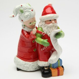 Mrs.Claus and Santa Naughty or Nice 2-Piece Salt And Pepper Set