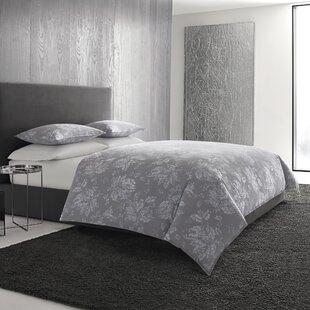 Vera Wang Transparent Leaves Cotton 3 Piece Duvet Set