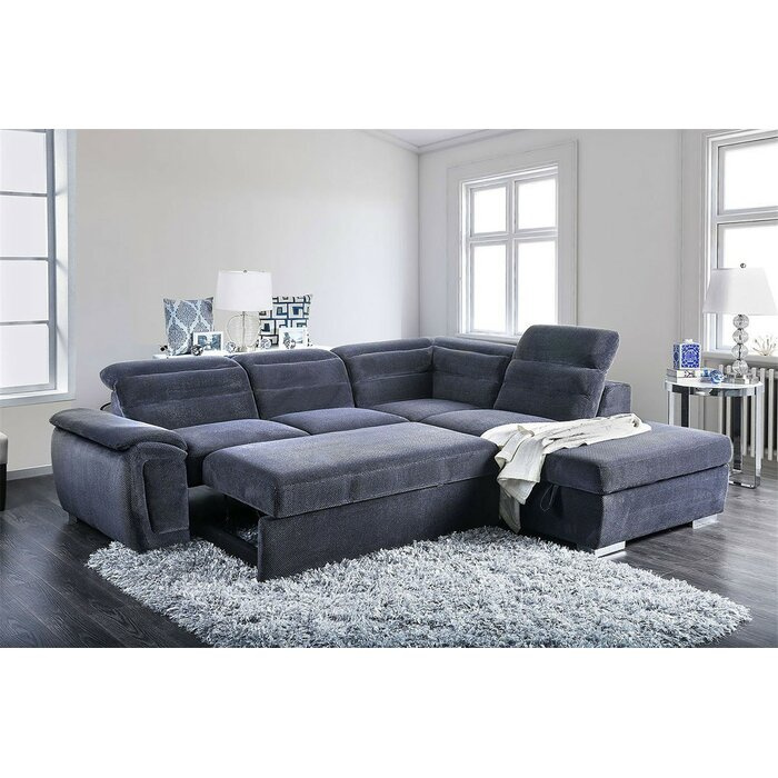 Terrific Hambrick Sleeper Sectional With Ottoman Andrewgaddart Wooden Chair Designs For Living Room Andrewgaddartcom