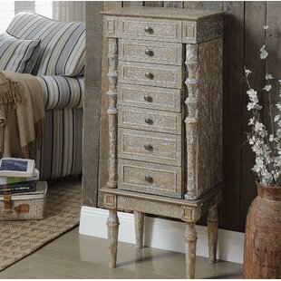 38d1dd1e7 August Grove Bayliff Jewelry Armoire with Mirror --Bedroom Furniture