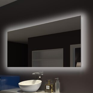 Moumoune Backlit Bathroom/Vanity Mirror By Everly Quinn