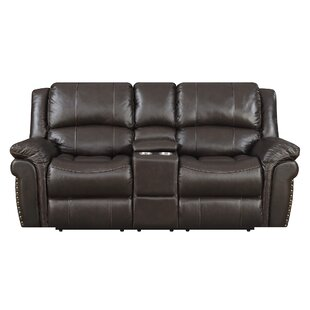 Darby Home Co Everardo Reclining Leather Loveseat
