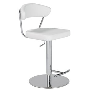 Smit Adjustable Height Swivel Counter Bar Stool by Orren Ellis