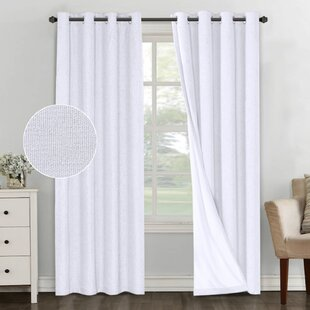 Mike Solid Color Max Blackout Thermal Grommet Curtain Panels (Set of 2) by Modern Rustic Interiors