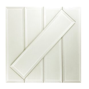 Frosted Elegance 3 x 12 Glass Subway Tile in Matte Cream by Abolos