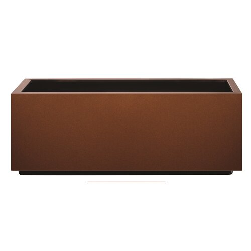 Metal Self-Watering Planter Box Symple Stuff Colour: Corten,