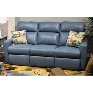 Knock Out Leather Reclining Sofa by Southern Motion