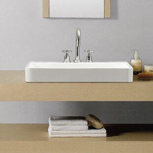 Swiss Madison Ivy Ceramic Rectangular Vessel Bathroom Sink