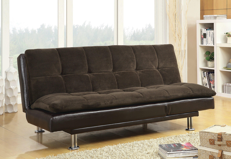 Ebern Designs Soghomon Twin Or Smaller Tufted Back Convertible Sofa Wayfair