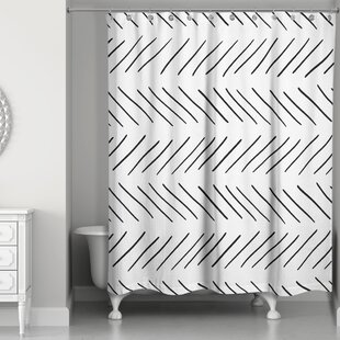 Estrela Modern Chevron Single Shower Curtain