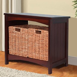 Charlton Home Lurganville Wood Storage Bench