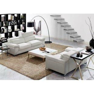 Wade Logan Asa 2 Piece Leather Living Room Set