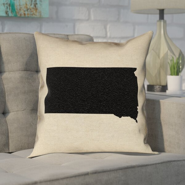 Ivy Bronx Chaput South Dakota Pillow In Faux Linen Double Sided Print Pillow Cover Wayfair