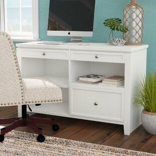 Veda Wood Credenza Desk by Beachcrest Home