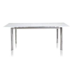 Marnisha Extendable Glass Top Dining Table