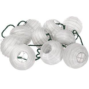 Oriental Furniture 10-Light 10 ft. Lantern String Lights