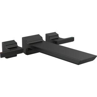 pivotal double handle wall mounted tub spout trim