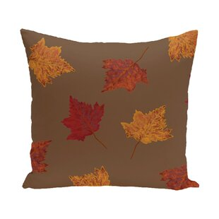 Marine Dancing Leaves Flower Print Throw Pillow